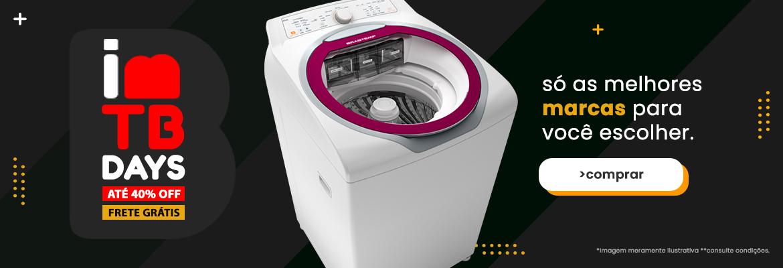 Máquina de lavar em promoção